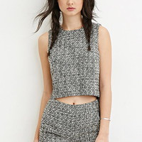 Two-Tone Boucle Top