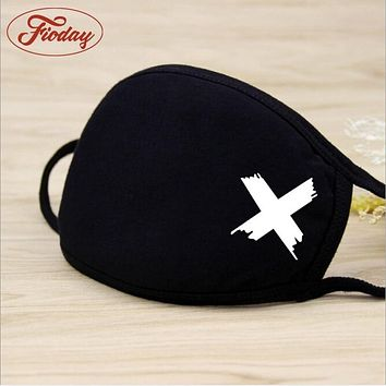 Unisex Winter Warm Thickening Mouth Mask Cotton Warm Dust Respirator Fashion Black Face Masks Women Cycling Anti-Dust A12D15