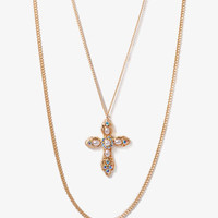 Layered Cross Necklace | FOREVER 21 - 1030187882