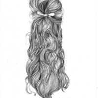 Hair. Art Print by Rakufrecsia. Raquel Carrero | Society6