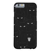 Black Cats (iPhone 4-6plus & Androids) Barely There iPhone 6 Case