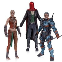 DC Collectibles Batman: Arkham Origins: Copperhead, The Joker as Red Hood, and Deathstroke Unmasked Action Figure (3-Pack)