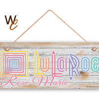 """LuLaRoe Sign, Company Sign, Personalized 6""""x14"""" Sign, Custom Name Sign, Promote Your Business or Boutique, Rustic Style 3, Made To Order"""