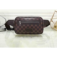 """Louis Vuitton"" Fashion Wild Color Wide Shoulder Strap Print Shoulder Bag Waist Bag Crossbody Bag 3#"
