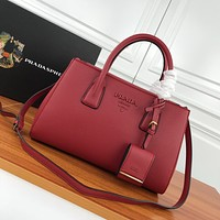 prada newest popular women leather handbag tote crossbody shoulder bag satchel 81