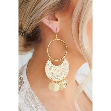 Gleaming Rays Dangle Earring (Antique Gold)