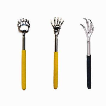 Sales Convenient Claw Telescopic Ultimate Stainless Steel Back Scratcher Extendible From 22 To 59cm Talon Bear Claw Skull Gift