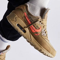 Nike Air Max 90 x Off-White ow air cushion sports running shoes for men and women