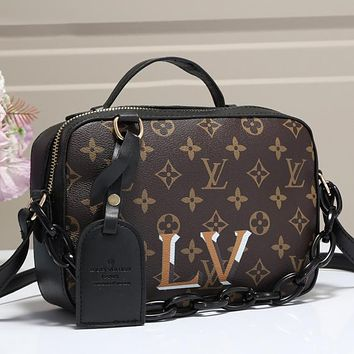 LV Louis Vuitton New Color Block Chain Crossbody Bag Shopping Shoulder Bag Cosmetic Bag