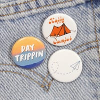 Paper Plane 1.25 Inch Pin Back Button Badge