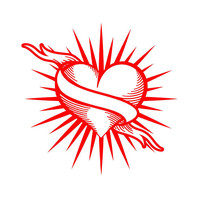 Heart Tattoo Decal Heart Car Decal Custom Vinyl Decal Computer Laptop decal auto decal vehicle window decal custom sticker Tattoo Decal