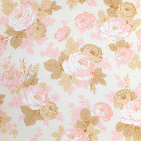 Roses Wallpaper, Rolls of Wallpaper, Vintage wallpaper, Pink Roses, Double wallpaper rolls, Home and Overseas Wallpaper