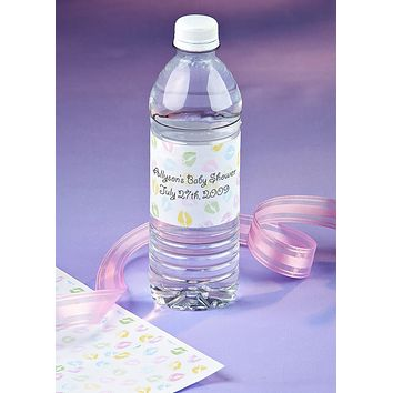 Baby Feet Printable Bottled Water Wrappers