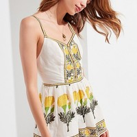 UO Dahlia Button-Down Romper | Urban Outfitters
