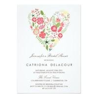 COLORFUL SPRING FLOWERS BRIDAL SHOWER INVITATION