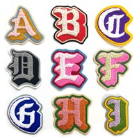 Chenille & Chainstitch Letter Patches Handmade Custom