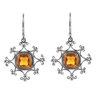 SE-8147-CT Sterling Silver Earring With Citrine Q.