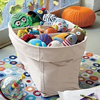 Colorful Large Canvas Bins in Toy Boxes & Bins   The Land of Nod