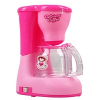 Pink Toy Coffee Machine Children Kitchen Toy Educational Pretend Play Toys for Girl