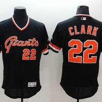San Francisco Giants #22 Will Clark Black Majestic Flexbase Collection Cooperstown Stitched MLB Baseball Jersey