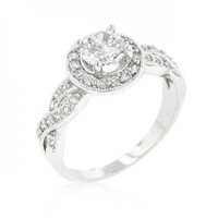 Round Cut Halo Engagement Ring (size: 10) (pack of 1 ea)