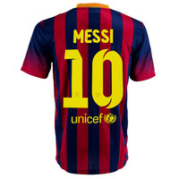 Nike Youth Barcelona Messi Home Jersey 2013-2014 - SoccerPro.com