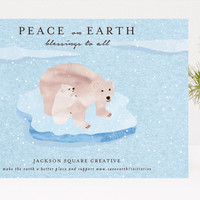 Peaceful Earth Business Holiday Cards by Kanika Ma... | Minted