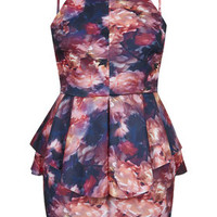 **Mini Peplum Dress by Oh My Love - Dresses - Clothing