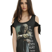 American Horror Story Tate Love Someone Girls Cold Shoulder Top