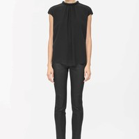 Top with padded neckline