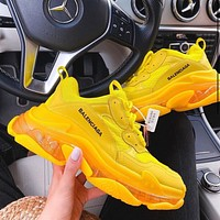 Balenciaga crystal cushion bottom three generations casual thick-soled couple jelly sneakers
