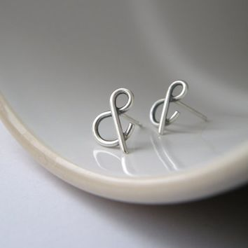 You & Me - Ampersand stud earrings