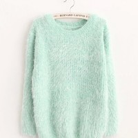 Candy Color Mohair Sweater