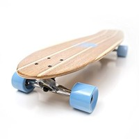 White Wave Pintail Bamboo Longboard Skateboard (40 inches)