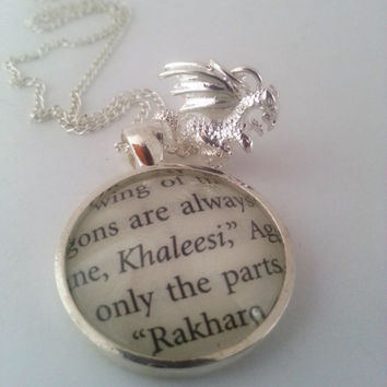 Game of Thrones Daenerys Khaleesi Dragon Necklace