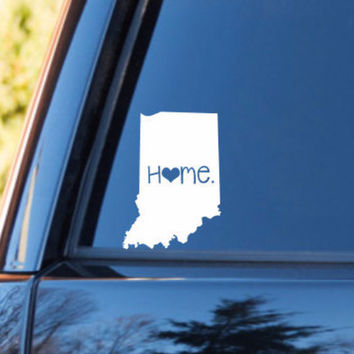 Indiana Home Decal | Indiana State Decal | Homestate Decals | Love Sticker | Love Decal  | Car Decal | Car Stickers | Bumper | 054