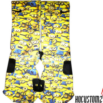 Despicable Me Minions Custom Nike Elite Socks ALL SIZES!!