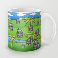 Hippos. Mug by Digi Treats 2 | Society6