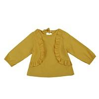 Toddler Kid Baby Girl Clothes Outfit Long Sleeve Ruffle Casual Shirt Top T-Shirts