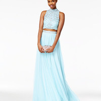 Say Yes to the Prom Juniors' 2-Pc. Rhinestone A-Line Gown, A Macy's Exclusive | macys.com