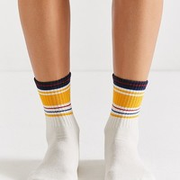 Out From Under Multi-Striped Crew Sock | Urban Outfitters
