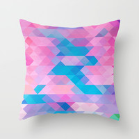 PINK TRIANGLE Throw Pillow by Hands In The Sky