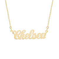 10K Gold Simple Script Custom Name Necklace
