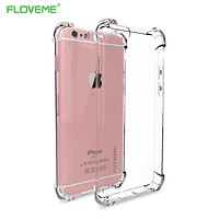 FLOVEME For iPhone 6 6s Plus 7 Case For iPhone 7 7 Plus Coque Clear Full Protection of 360 Degree Drop Resistant Anti-knock Capa