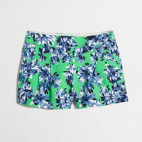 Factory printed pleated short
