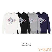 HCXX 19Aug 424 Dior Mechanical Nude Women's Printed Terry Sweater