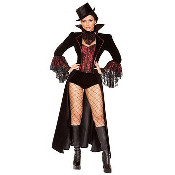 Sexy The Vampire Countess Costume with Accessories