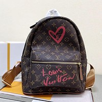 LV louis vuitton hot sale backpack fashion lady travel casual office school bag backpack