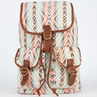 T-Shirt & Jeans Ethnic Stripe Backpack Brown Combo One Size For Women 21435844901