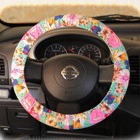 Steering Wheel Cover Bow Wheel Car Accessories Lilly Girls Interior Heated Aztec Monogram Tribal Camo Cheetah Sterling Chevron Floral Mint